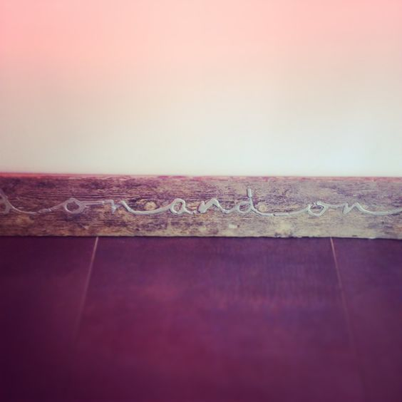 Our 'on and on' shop floorboard, Diana Porter's take on eternity...