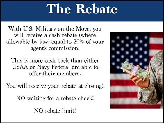 Huge Cash rebates for veterans buying or selling homes!  Better than USAA or NFCU rebates and better service!!!