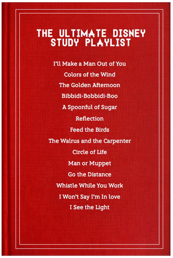 Disney Songs to Study To - Disney Blogs I still think I would be singing along instead of studying
