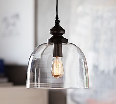 Larson Pendant #potterybarn 3 of these would be amazing over the island!!