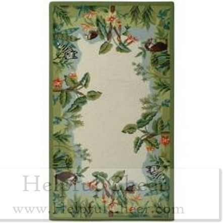 Safavieh Hand-hooked Chelsea Jungle Beige Wool Rug 2 x27 6 x 4 x27 Free shipping at - 01