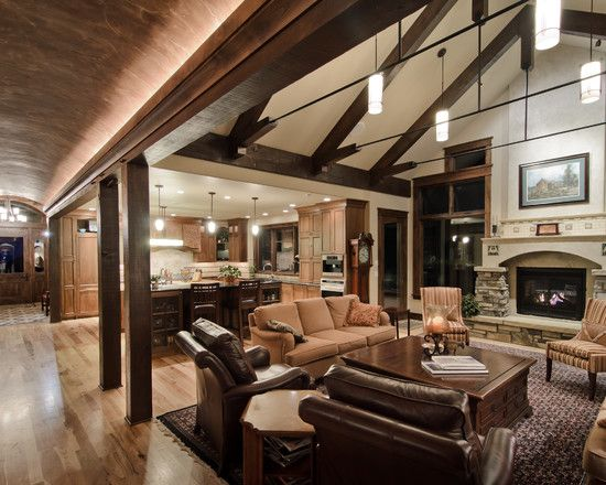 interior design for living room and kitchen - Open floor, Decor and Living rooms on Pinterest