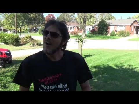 """Yelled at for cutting over the property line by 2 psychos on video """"lawn..."""