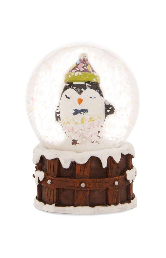 Mini-Schneekugel mit Pinguin