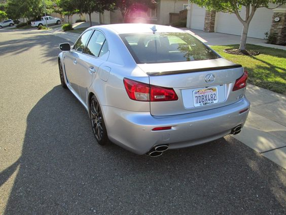 2014 Lexus IS-F rear 3/4 view