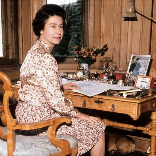File photo dated 01/09/72 of Queen Elizabeth II in her study at Balmoral on the year of her silver w... - PA/PA WIRE/Press Association