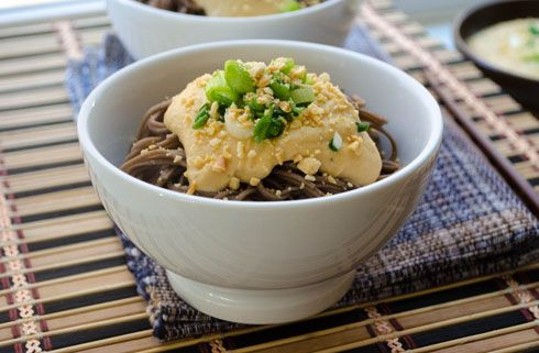 Soba with Miso Hummus Sauce