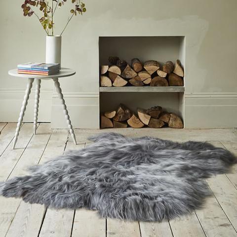 Finest Icelandic Long Wool Sheepskin Pale Pink With Images Sheepskin Cushions Sheepskin Luxury