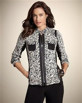 Soooo wanted this jacket from Chico's but naturally, my size is sold out.  :(  Not meant to be.