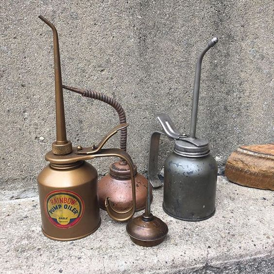 """Whenever I see these In my head I hear the tin woodsman say """"Oil Can""""."""