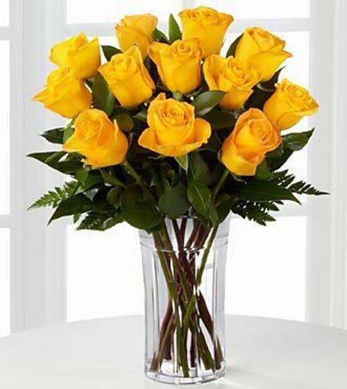 Dozen Yellow Roses Yellow Rose Bouquet Yellow Roses Beautiful