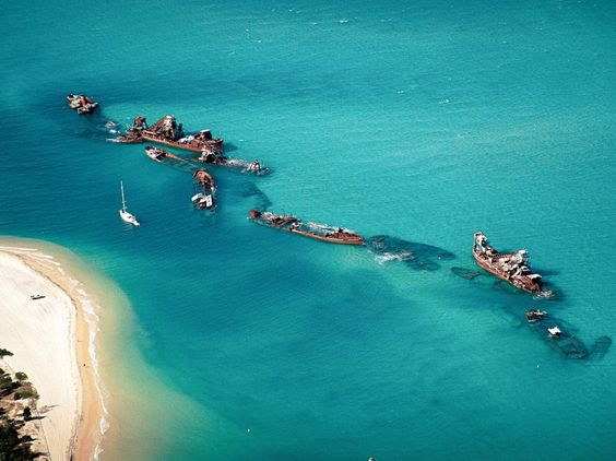 Moreton Island only 75-minute ferry ride from Brisbane, is impressively 95 percent national park, Queensland, Australia