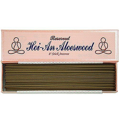 Reserved Vietnamese Hoi-An (Jinko) Aloeswood - 8 stick incense - 100% Natural - G500T by Bosen Incense. Save 25 Off!. $89.95. This incense is the most typical water-sinking grade Hoi-An Aloeswood Incense. Its high-resin makes the fragrance so well, and will get rich day by day if stored appropriately. It can alleviate the physical and psychological pressure, stabilize the nerve and depression, improve the sleeping quality, ..., and so on. These key ingredients are 100% na...