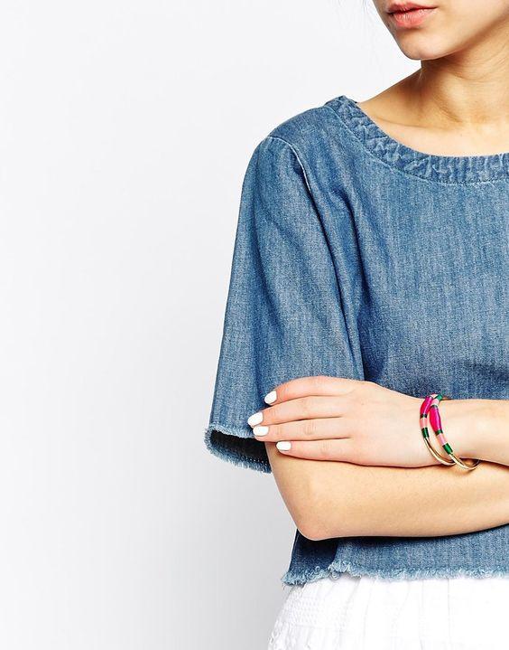 Image 3 - Monki - Elba - Lot de 2 bracelets ouverts ornés de fils enroulés