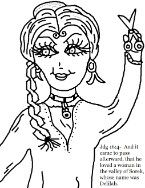 Samson and delilah coloring pages sunday school for Samson and delilah coloring pages
