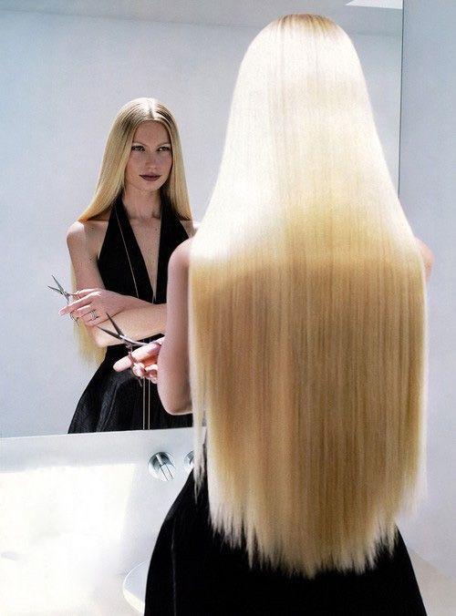 Long Blonde Straight Hair | Beautiful Blowdrys, Smooth ...