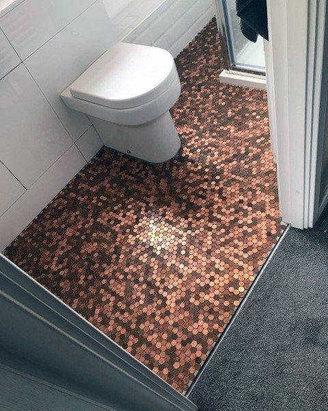 Top 60 Best Penny Floor Design Ideas Copper Coin Flooring Penny Floor Penny Floor Designs Penny Tile Floors