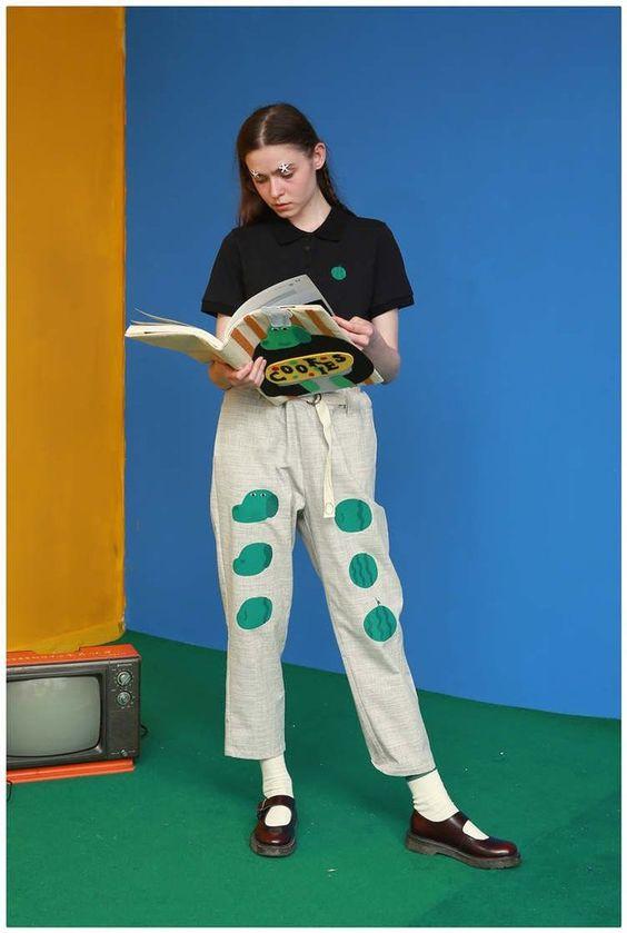 Tyakasha Mr. Green Face Watermelon Linen Pants By BKBT Concept ...