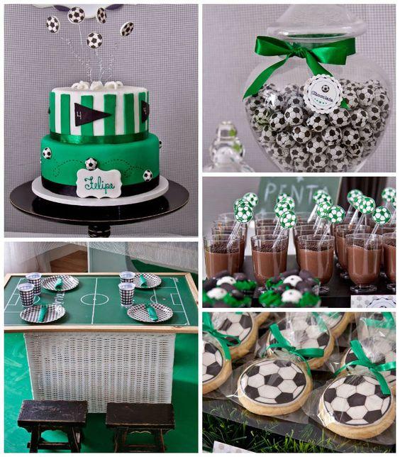 Fiesta de cumpleaños con temática de fútbol   Ideas para Decoracion