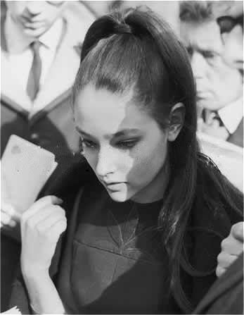 Olivia Hussey promoting Romeo and Juliet in Russia