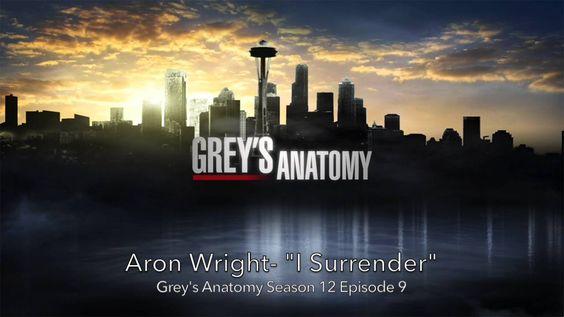 Aron Wright-I Surrender Grey's Anatomy Season 12 Episode 9