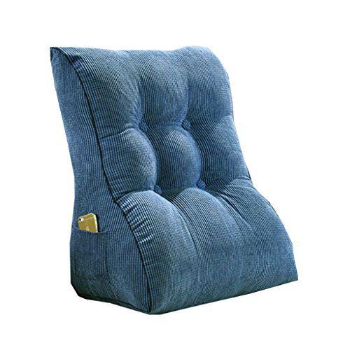 Ggcg Triangle Back Cushion Cushion Cushion Sofa Bed Side Office Chair Protection Neck Waist Shoulder Pregnant Women Triang Cushions On Sofa Blue Pillows Chair