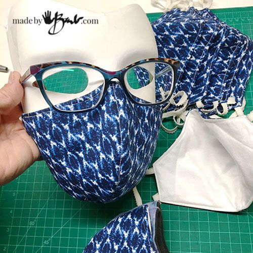 Diy Fitted Face Mask Made By Barb Free Pattern Designed To Fit