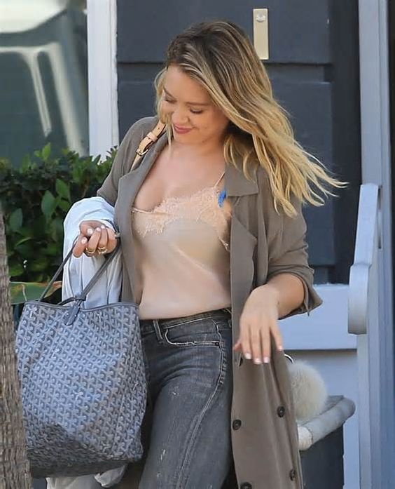 Hilary Duff Thick Cleavage and New Tattoo of the Day
