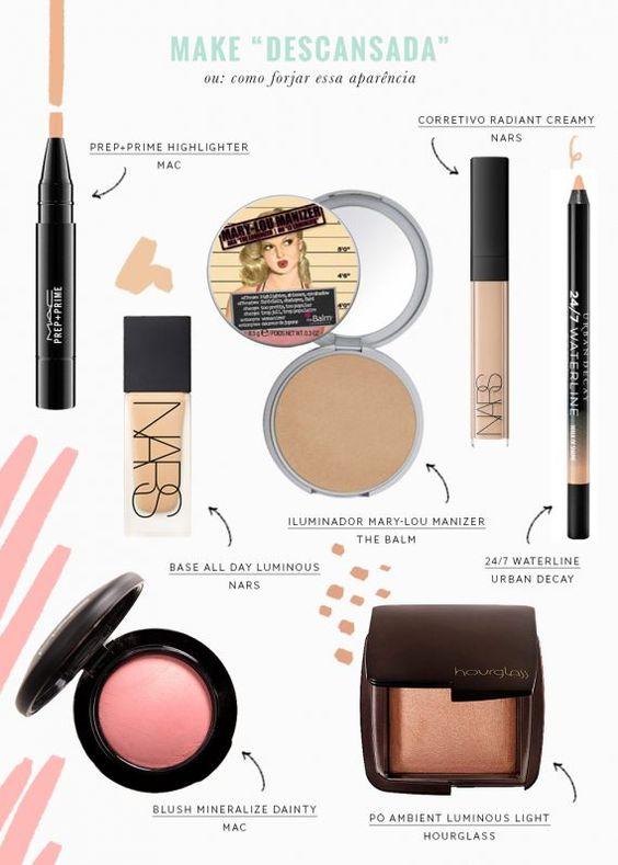 Para aqueles dias que você está super cansada e quer dar um up no look: aprenda a fazer uma maquiagem para ficar com cara de descansada e veja quais são os produtos escolhidos pela Vic Ceridono para isso.