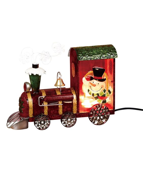 Love this Snowman LED Train Décor by Transpac Imports on #zulily! #zulilyfinds