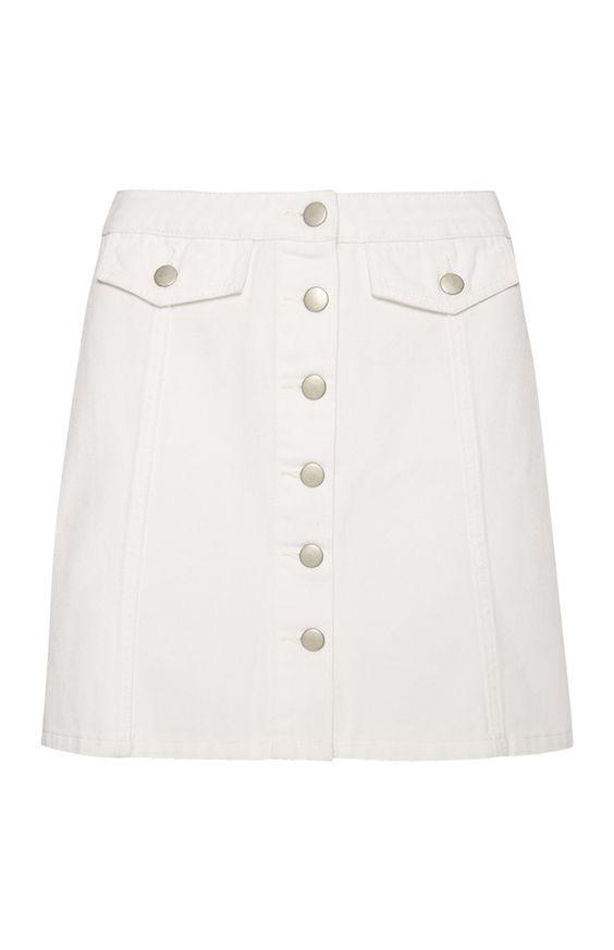 Primark - White Denim A Line Skirt | vetetments clothing ...