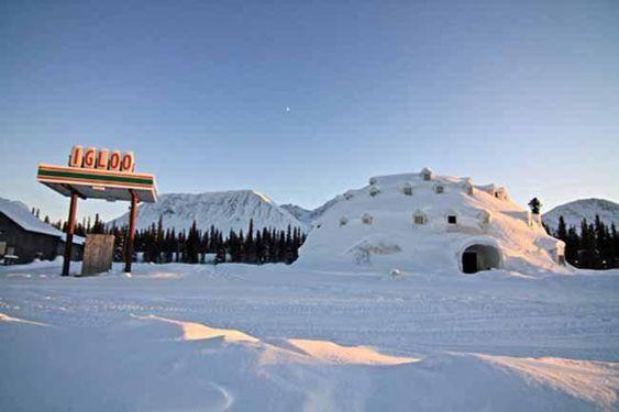 Abandoned Igloo Hotel Near Cantwell Alaska