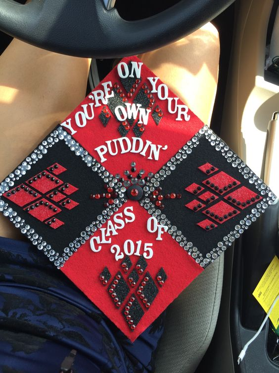 I love harley quinn and so for graduation i made her the for Harley quinn bedroom ideas