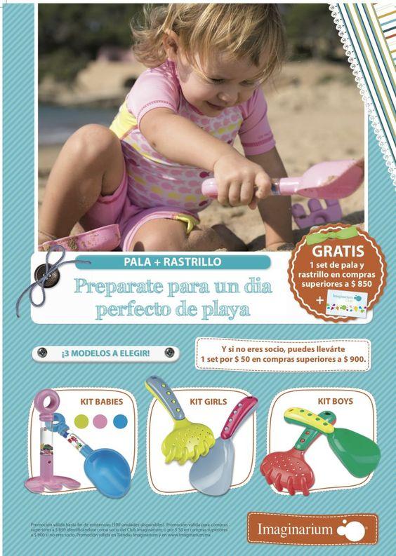 Imaginarium siempre pensando en los pequeños de casa, trae tres modelos de pala + rastrillo para preparar un día perfecto de playa.