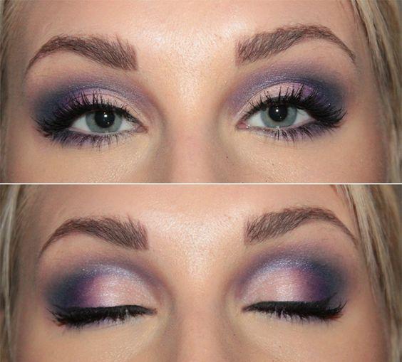Beautiful purple smokey eyes