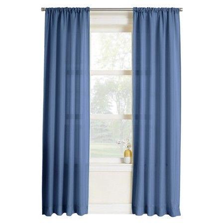 "Layne Heathered Solid Curtain Panel - Lapis (40x84"") : Target"