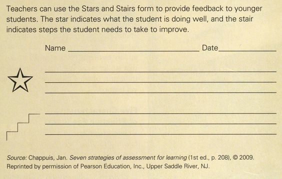 Image result for stars and steps feedback form Feedback Pinterest - student feedback form in doc