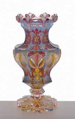 Bohemian glass vase - 1845