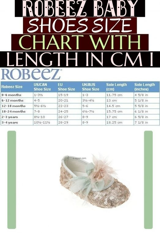 Robeez Baby Shoes Size Chart With Length In Cm I Baby Robeez Baby Shoes Grossentabelle Mit Lange In Cm Baby Shoe Size Chart Baby Shoe Sizes Robeez Baby Shoes