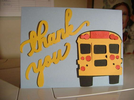 Card: Thank you to bus driver - school card