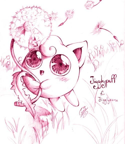Jigglypuff! My friend used this picture to help with my tattoo - I got lots of compliments on the original artist's work on the eyes