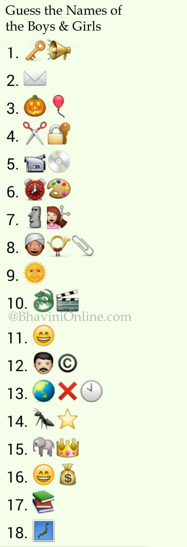 Guess The Emoji Pin And Boy Whatsapp Puzzles: Gues...