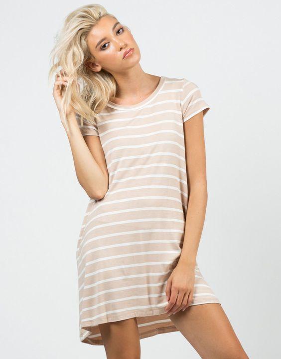 Jersey Striped Dress