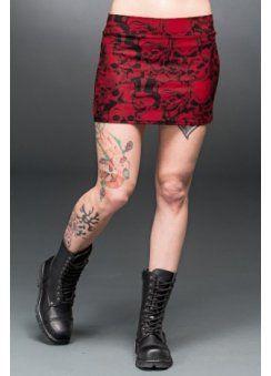 Skulls Bodycon Mini Skirt