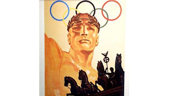 Das Plakat der Olympischen Spiele von 1936 in Berlin. © picture-alliance / ASA