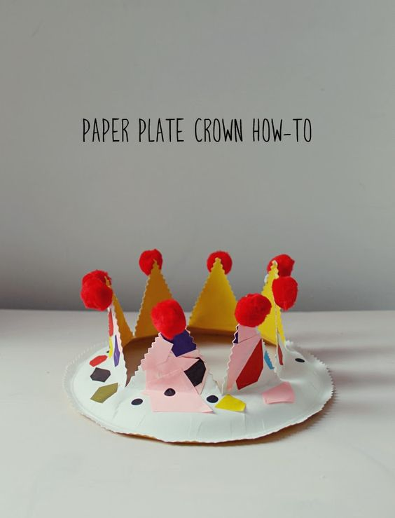 paper plate party crown kid play do things to make birthdays and crafts. Black Bedroom Furniture Sets. Home Design Ideas