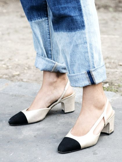 Schicke Schuhe! Die Chanel Slingback Pumps sind das Key-Piece für jede Fashionista!