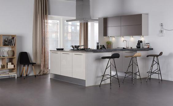 Bruynzeel Pallas keuken in de kleur kashmir, gecombineerd met Atlas in ...