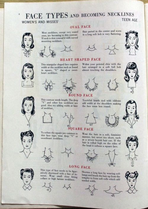 Becoming necklines for your face type: