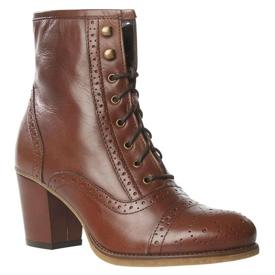 Beautiful brogue ankle boots